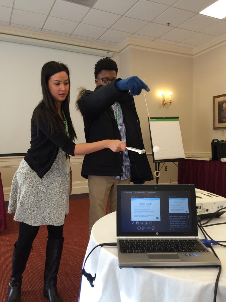 Phalla Messina doing a presentation at the 4-H Summit