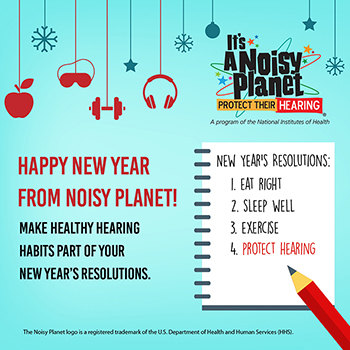 Happy New Year greeting along with a few new year's resolutions