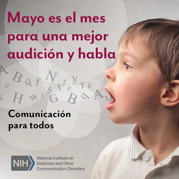 Un niño hablando con letras saliendo de su boca.