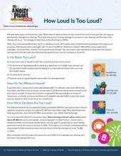 How loud is too loud? fact sheet