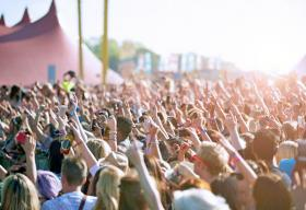Crowd at an outdoor concert
