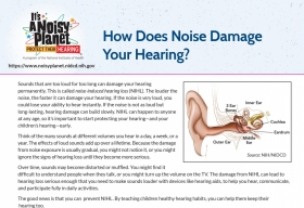 How does noise damage your hearing? factsheet