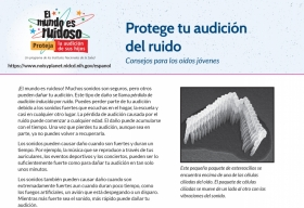 Protege tu audición del ruido: Consejos para los oídos jóvenes (When It's Loud, Protect Your Hearing: Sound Advice for Young Ears)