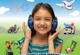 Sounds Are All Around, A poster that presents why and how to protect your hearing.