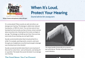 When it's loud. Protect your hearing factsheet thumbnail.