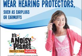 To protect your hearing, wear hearing protectors such as earplugs or earmuffs